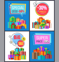 super sale special offer best prices discounts box vector image vector image