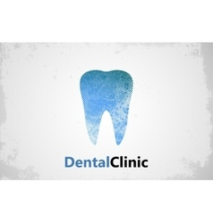 Tooth logo Dental clinic design Dental care vector image