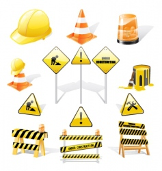 under construction icons set vector image