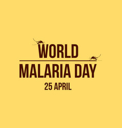 world malaria day background collection vector image