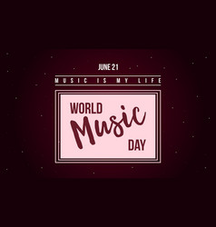 World music day celebration style banner vector