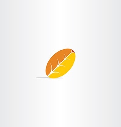 yellow autumn leaf logo vector image vector image