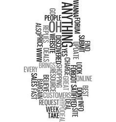 Your online resource text word cloud concept vector
