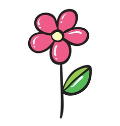 a pink flower vector image
