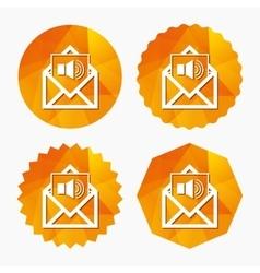 Voice mail icon speaker symbol audio message vector