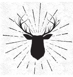 Symbol of deer vector image