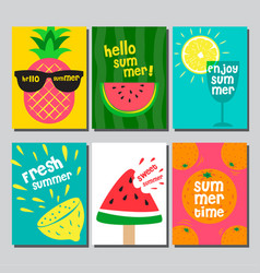 Summer layout design greeting card cover book vector
