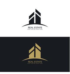 Modern clean real estate logo design concept vector