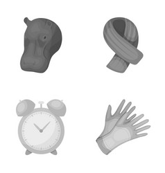 Zoo training and other monochrome icon in cartoon vector