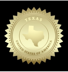 Gold star label texas vector