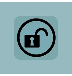 Pale blue unlocked sign vector