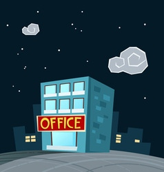Office at night vector