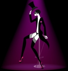 Actor cabaret in black vector