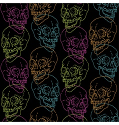 Skull pattern black vector