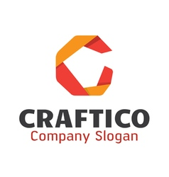 Craftico logo design vector