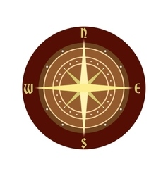 An ancient compass icon vector