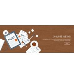Flat header online news vector