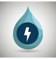 Symbol of energy isolated icon design vector