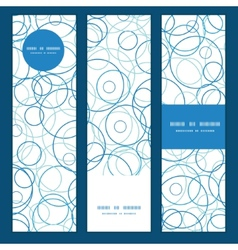 Abstract blue circles vertical banners set pattern vector