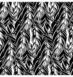 Abstract pattern inspired by tropical birds vector