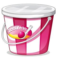 An ice cream bucket vector image