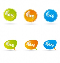 blog elements vector image
