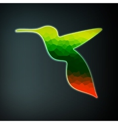Colorful abstract hummingbird vector image
