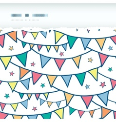 Colorful doodle bunting flags horizontal torn vector
