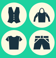 Dress icons set collection of trunks cloth vector