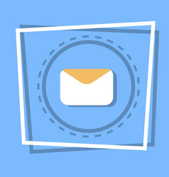 envelope icon email message concept vector image