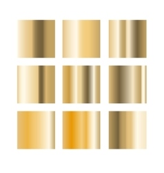 Gold gradient palette swatches vector