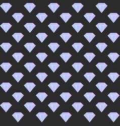 gradient diamond seamless pattern on the dark vector image vector image