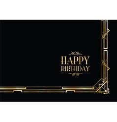 Happy birthday gatsby vector