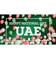 Happy national day uae vector