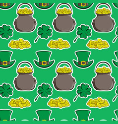 Holiday seamless pattern st patrick s day vector