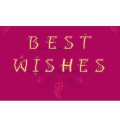 Inscription best wishes vector