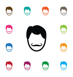 Isolated hairstyle icon whiskers element vector