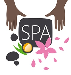 Logo hand and accessories for spa salon vector
