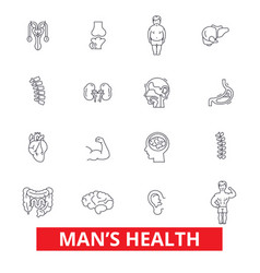mens health healthy fitness lifestyle active vector image vector image