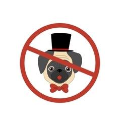 No dog entry icon vector image