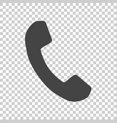 Phone icon in flat style on isolated background vector