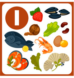 10 foods high in Zinc Royalty Free Vector Image