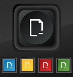 Remove folder icon symbol set of five colorful vector