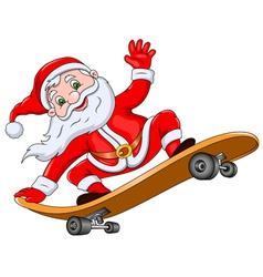 Santa Claus on Skateboard vector image vector image