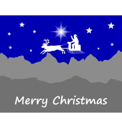 Santa claus wishes happy christmas vector