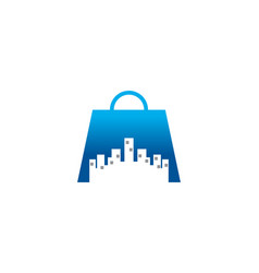 Shopping city logo vector
