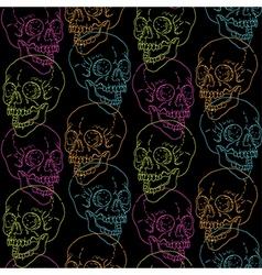 skull pattern black vector image