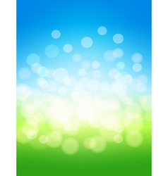 sky and green field abstract background vector image