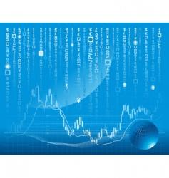 stock exchange background vector image vector image