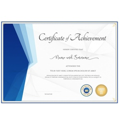 Modern certificate template for achievement vector